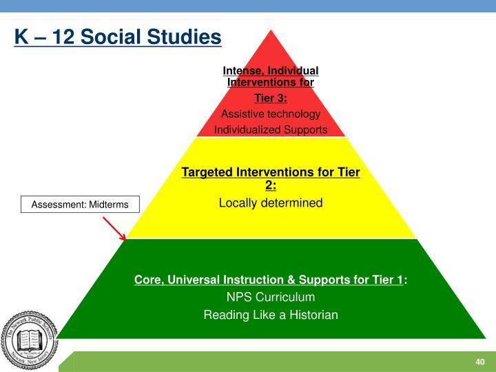 K – 12 Social Studies