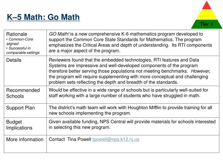K–5 Math: Go Math