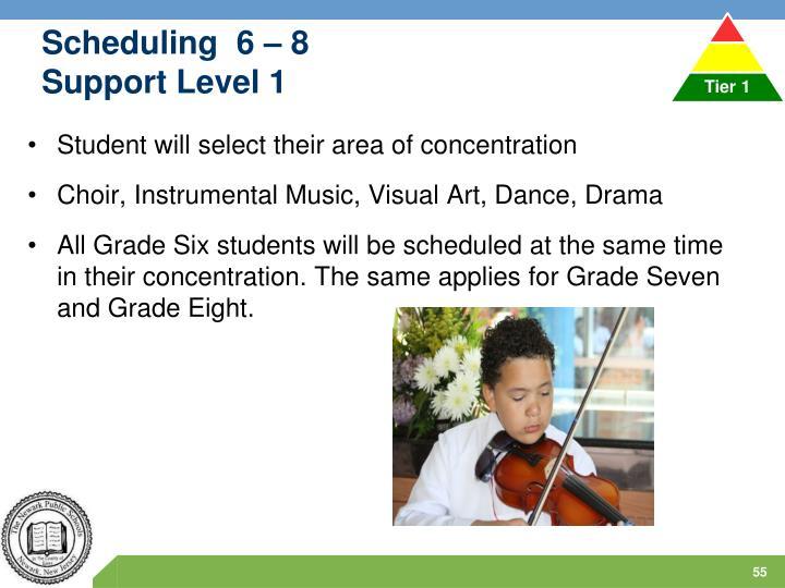 Scheduling  6 – 8