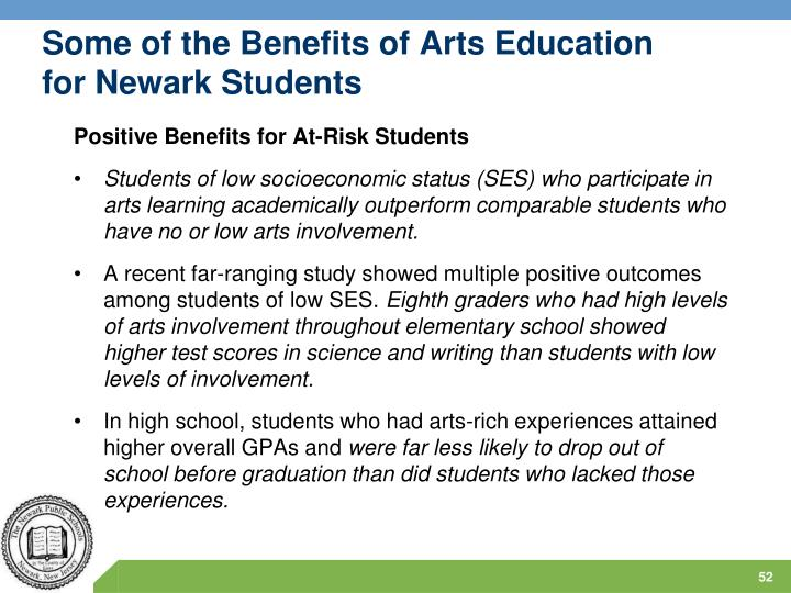 Some of the Benefits of Arts Education for Newark Students