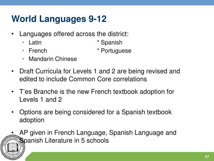 World Languages 9-12