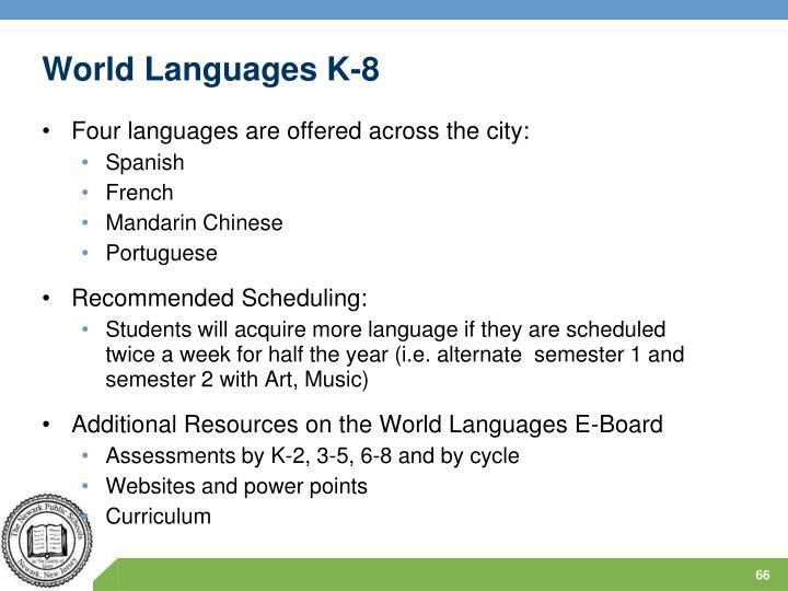 World Languages K-8