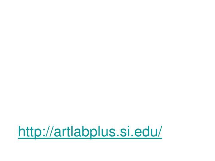 http://artlabplus.si.edu/