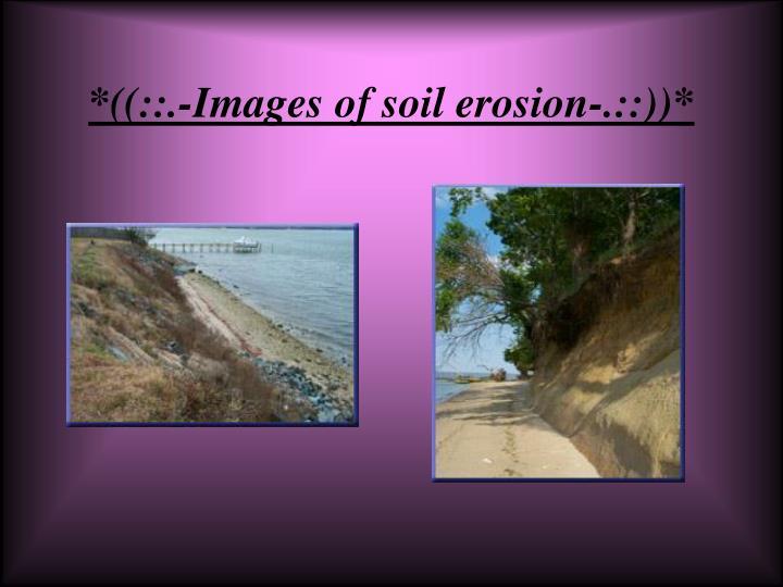 *((::.-Images of soil erosion-.