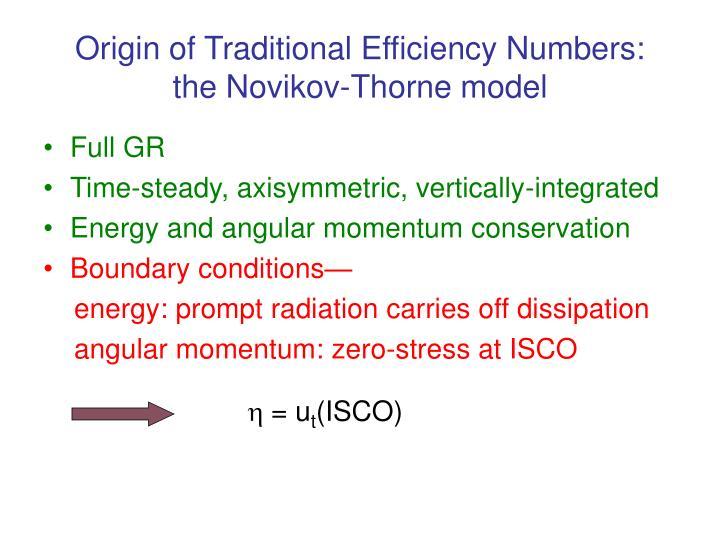 Origin of Traditional Efficiency Numbers: