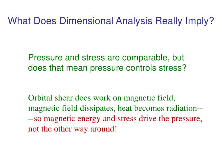 What Does Dimensional Analysis Really Imply?