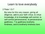 learn to love everybody