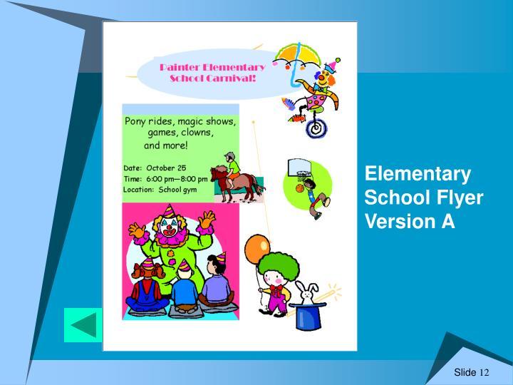 Elementary School Flyer Version A