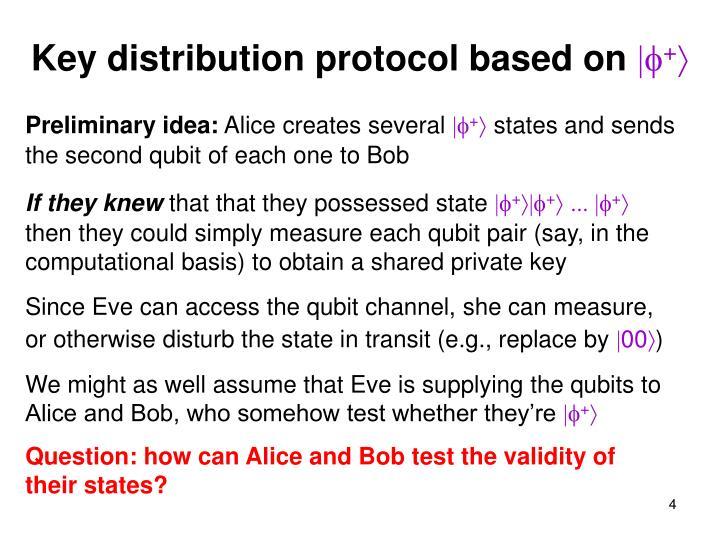 Key distribution protocol based on