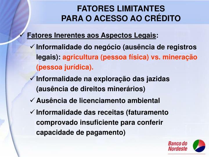 FATORES LIMITANTES