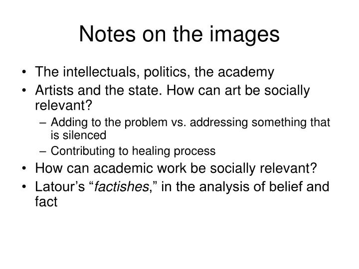 Notes on the images