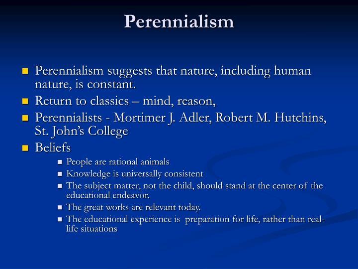 Perennialism