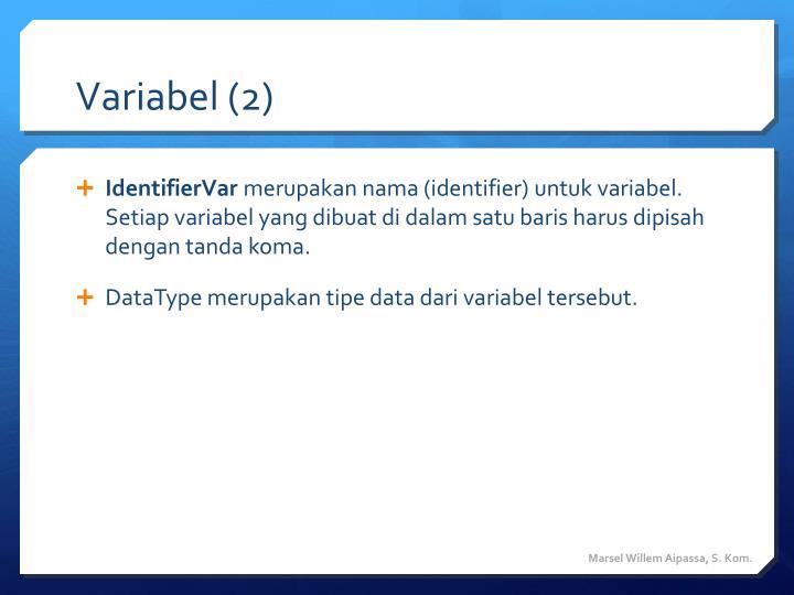 Variabel (2)