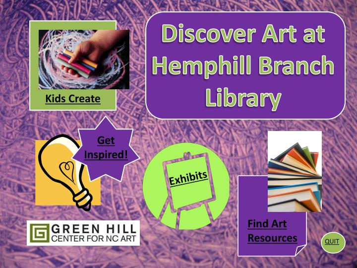 Discover Art at Hemphill Branch Library