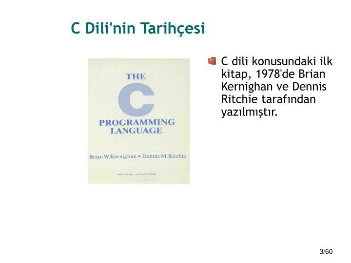 C Dili'nin Tarihçesi