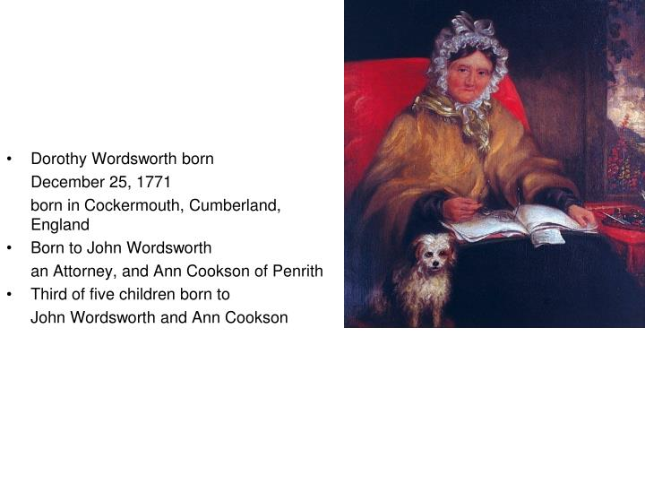 Dorothy Wordsworth born