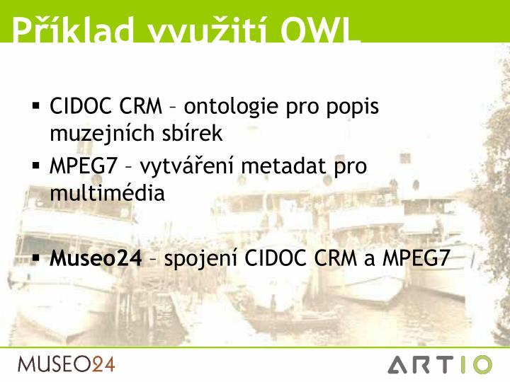 Příklad využití OWL