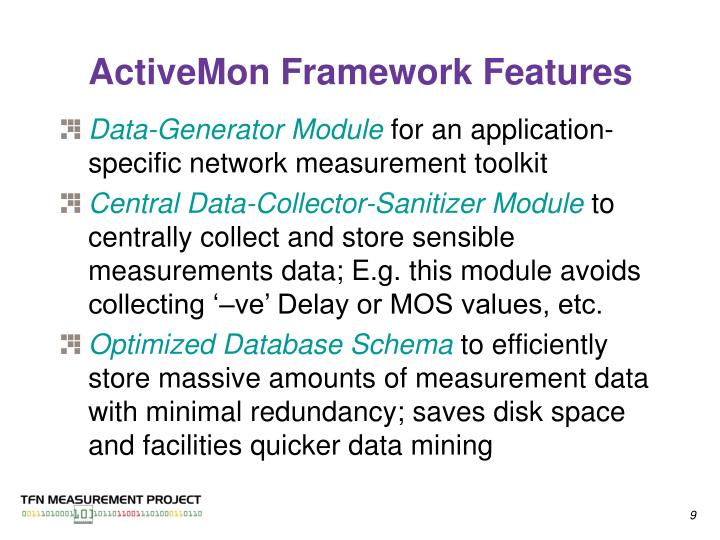 ActiveMon Framework Features