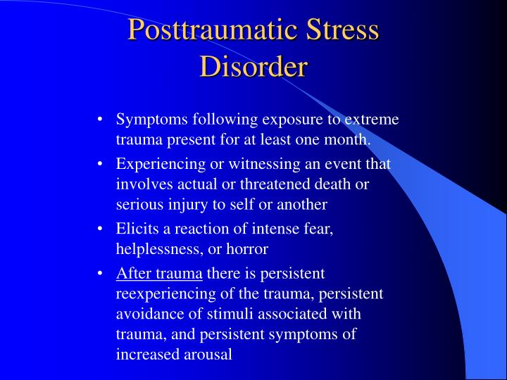 Posttraumatic Stress