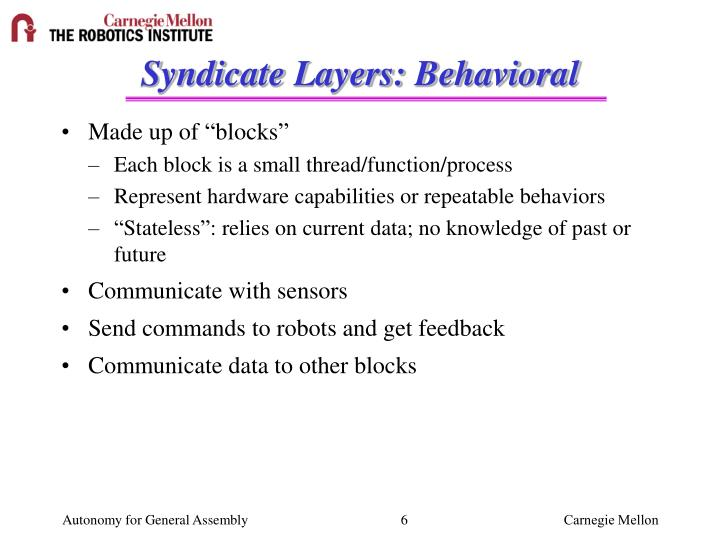 Syndicate Layers: Behavioral