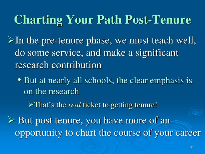 Charting Your Path Post-Tenure