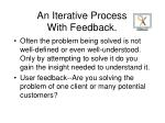 an iterative process with feedback