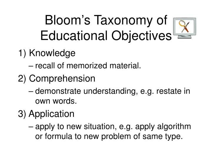Bloom's Taxonomy of Educational Objectives