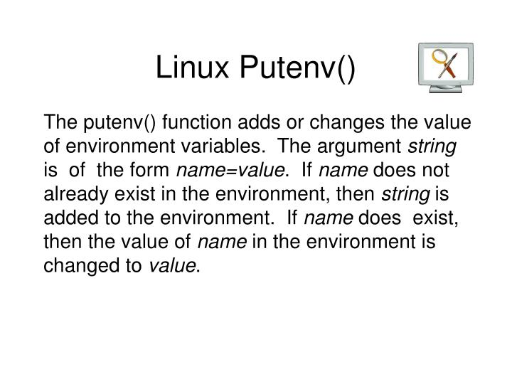 Linux Putenv()