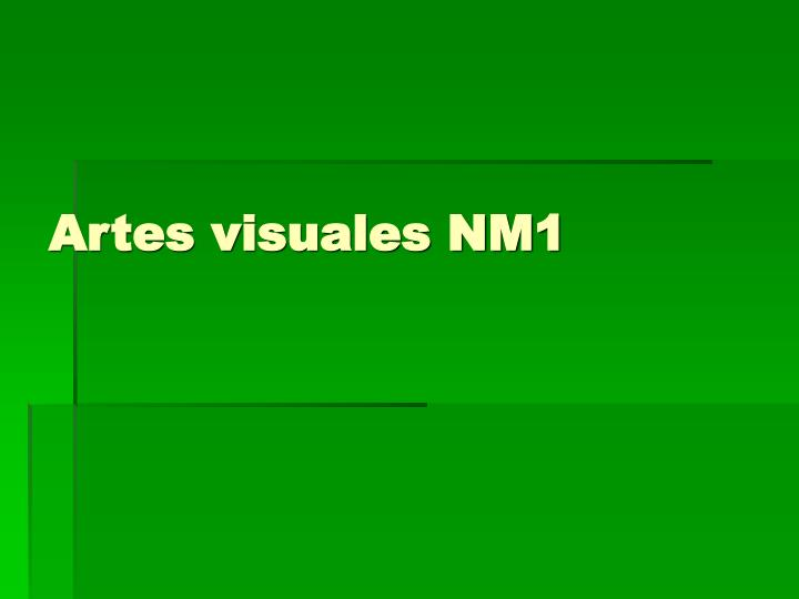 Artes visuales NM1