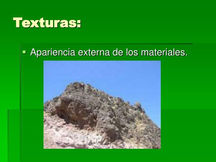 Texturas: