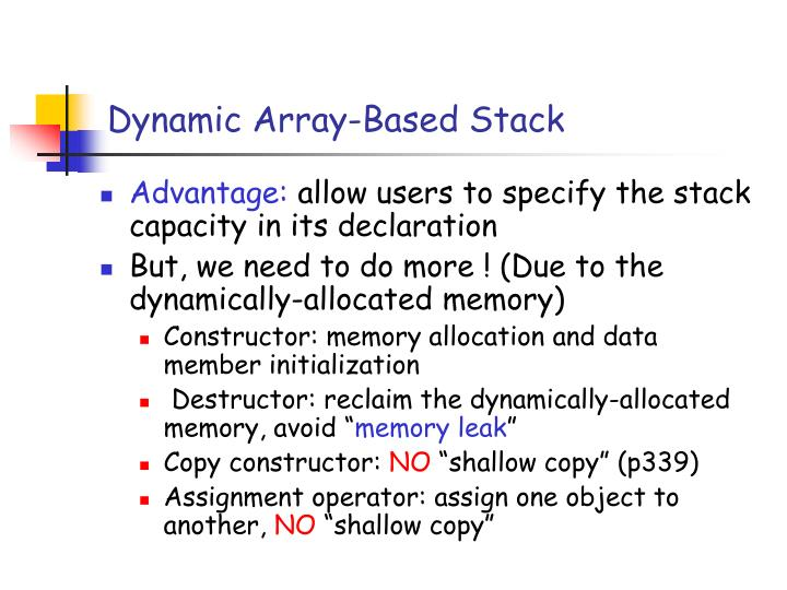 Dynamic Array-Based Stack