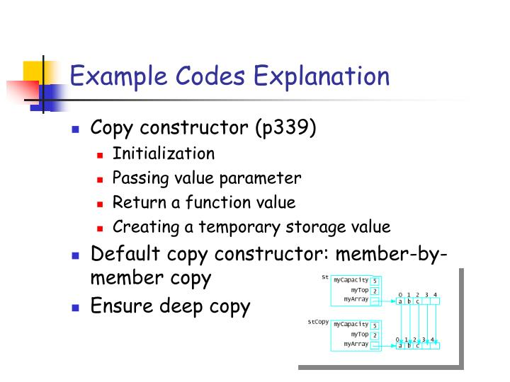 Example Codes Explanation