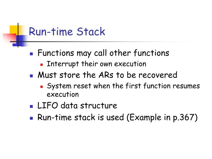Run-time Stack