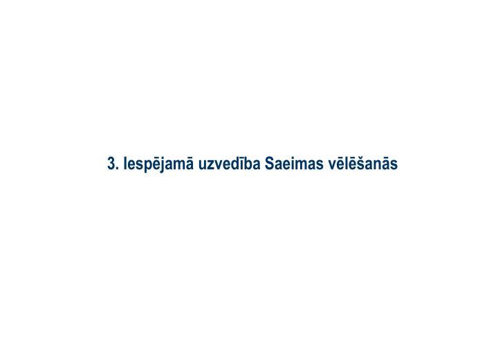 3. Iespējamā uzvedība Saeimas vēlēšanās