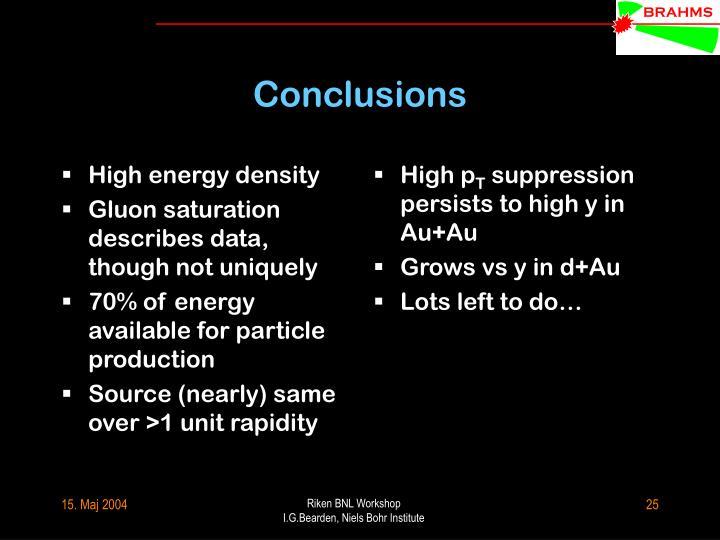 High energy density