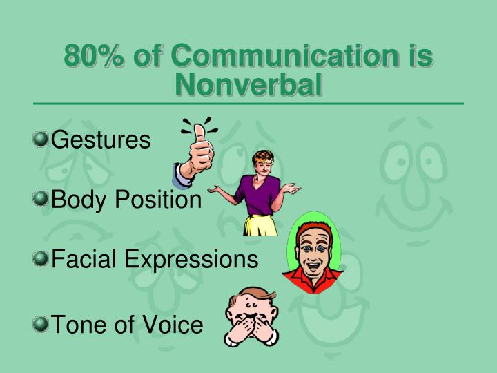 80% of Communication is Nonverbal