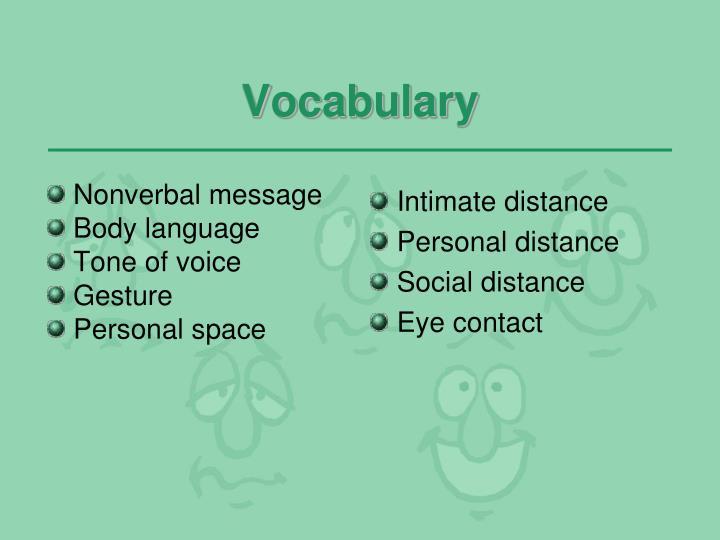 Nonverbal message