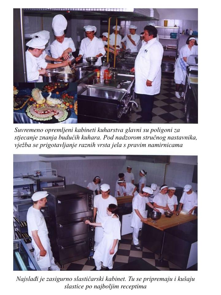 Suvremeno opremljeni kabineti kuharstva glavni su poligoni za