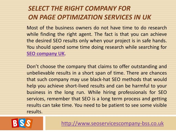 Select The Right Company For