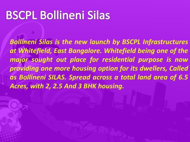 BSCPL Bollineni Silas
