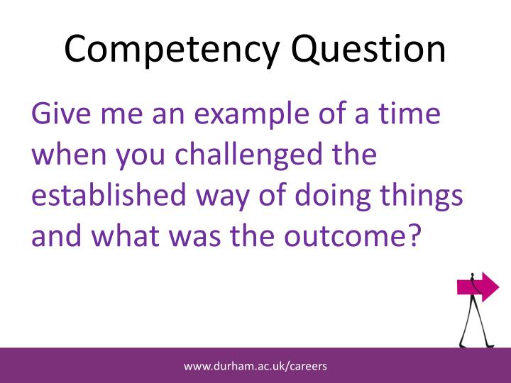 Competency Question