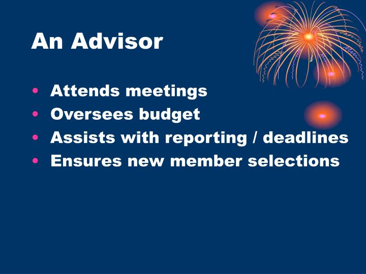 An Advisor