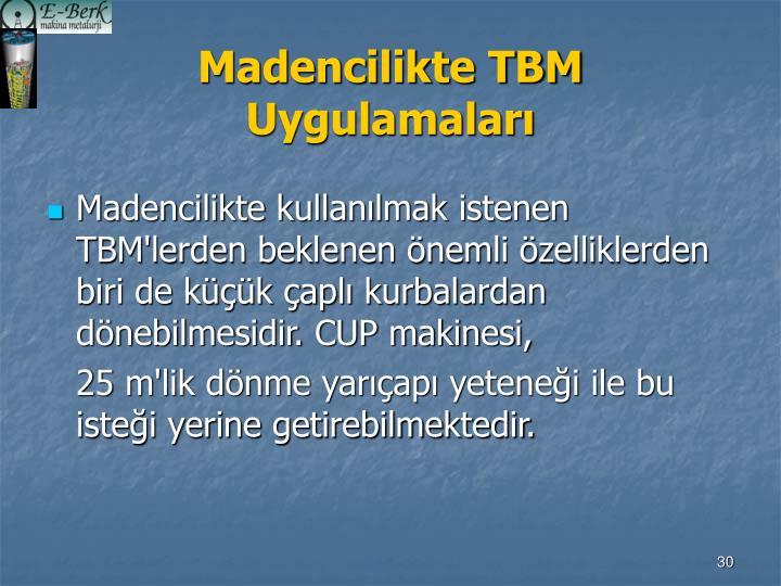Madencilikte TBM Uygulamaları