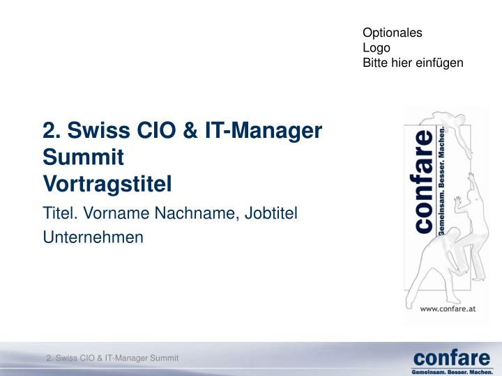 2 swiss cio it manager summit vortragstitel