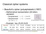 classical cipher systems9