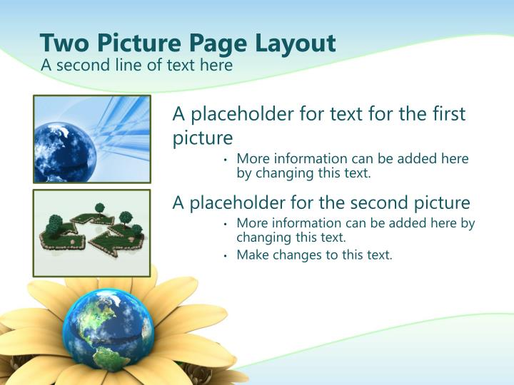Two Picture Page Layout