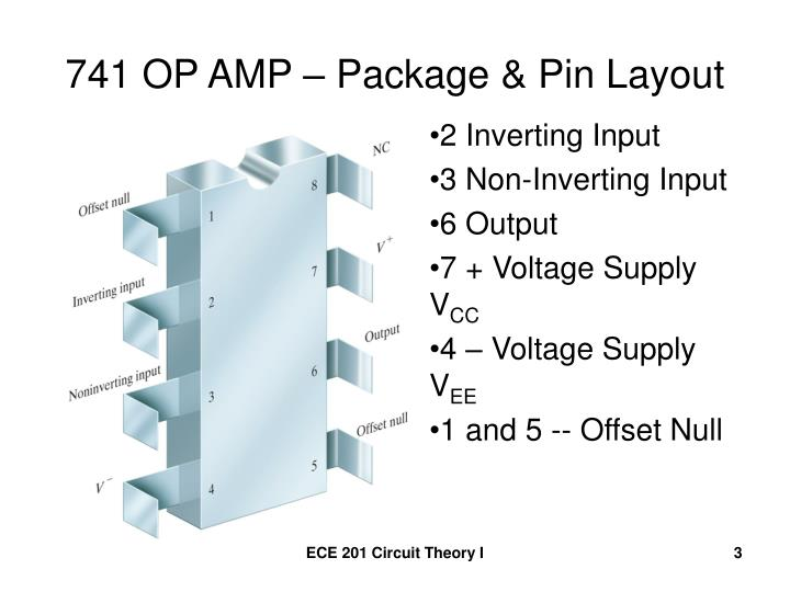 741 op amp package pin layout