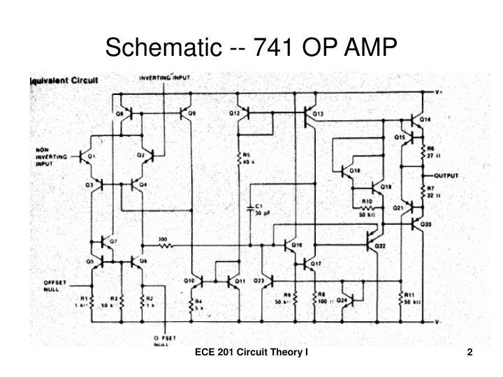 Schematic -- 741 OP AMP