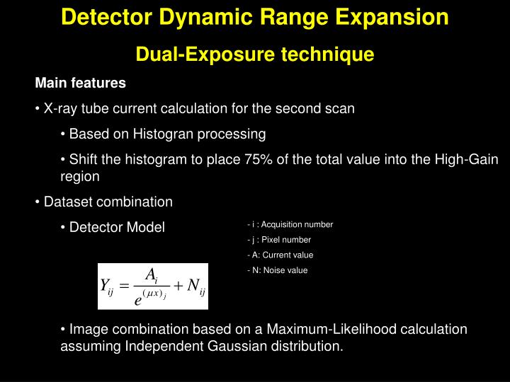 Detector Dynamic Range Expansion