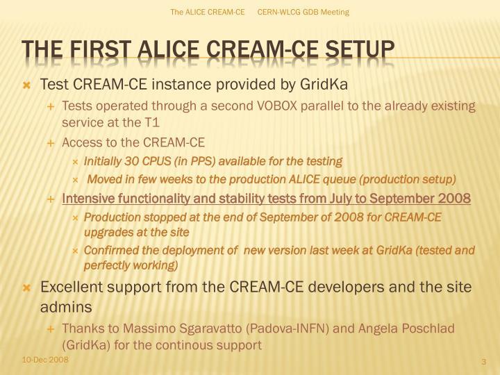 Test CREAM-CE instance